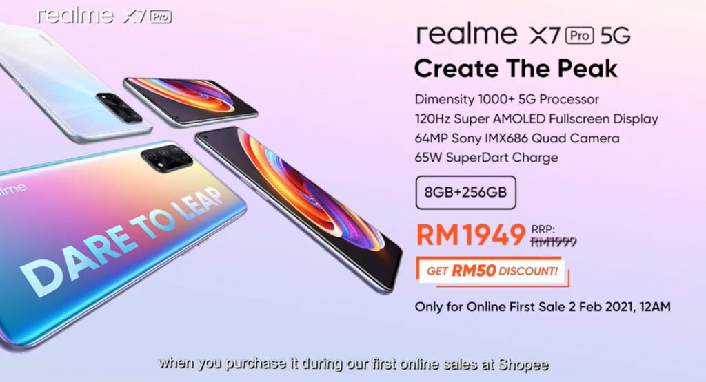 realme X7 Pro 5G malaysia