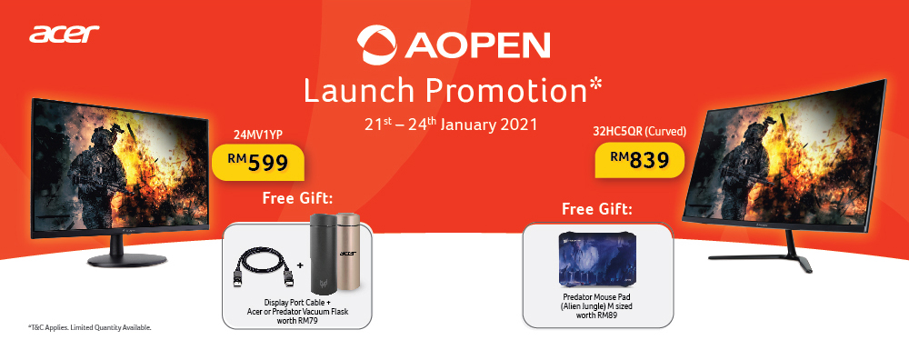 Acer Malaysia Expedites Availability of Affordable AOpen Monitors : AOpen 32HC5QR & AOpen 24MV1YP 9