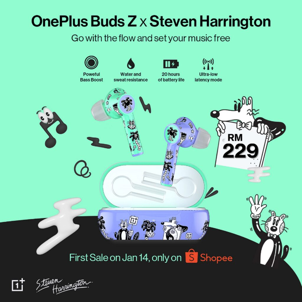 One Plus Buds Z x Steven Harrington  Shopee KV