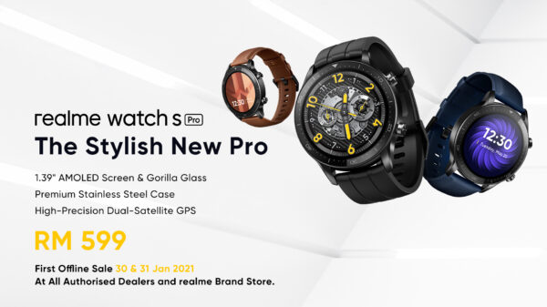 Realme watch S Pro will be Available On 30 Jan 2021, Priced at RM 599 Only 2