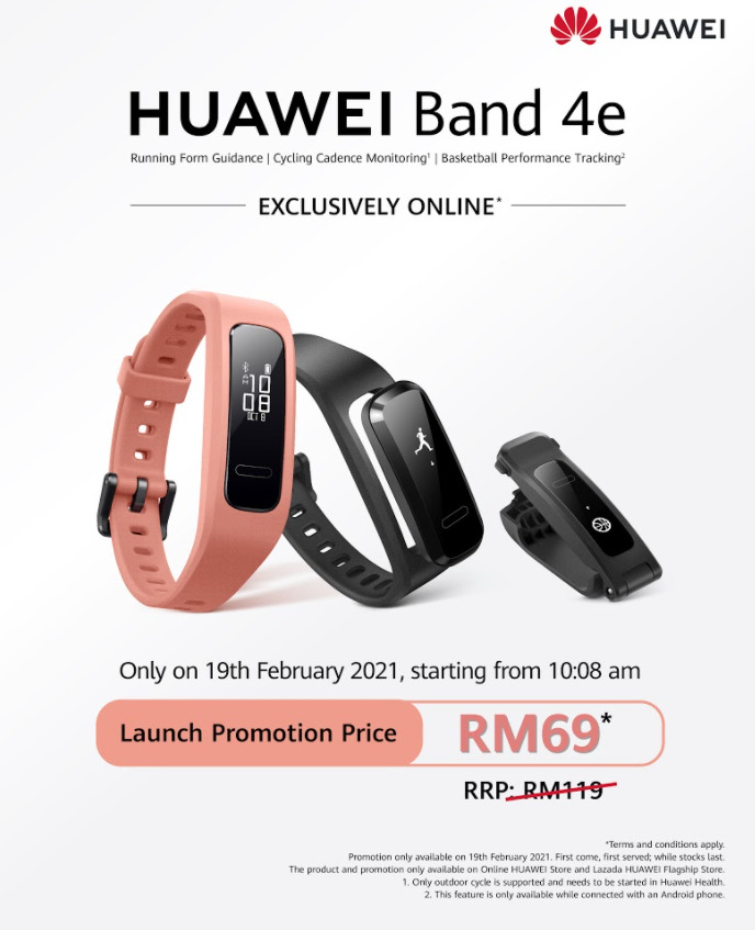 Huawei Band 4e Arrives 19th February For RM119; Here's How To Get It For RM69 19