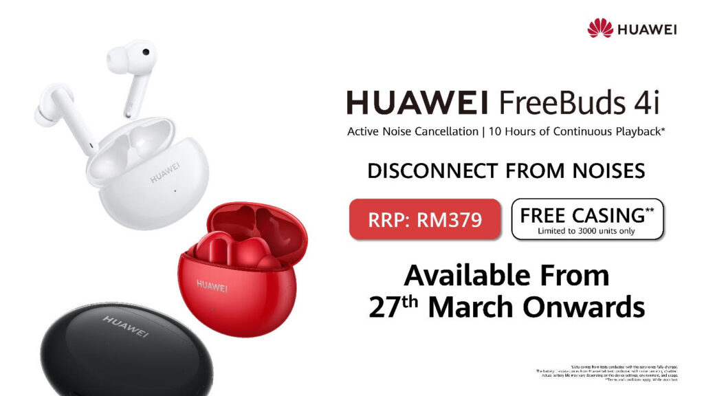 Huawei FreeBuds 4i With ANC Launched In Malaysia; Priced At RM379 6