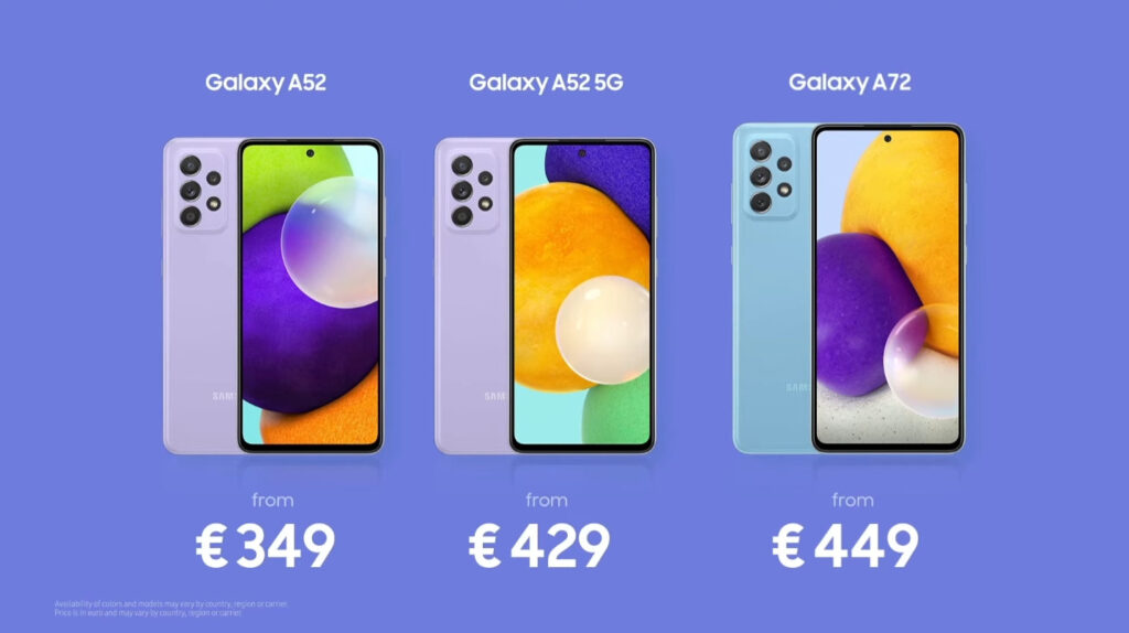 Samsung Galaxy A72, Galaxy A52 Unveiled; Making Awesome Innovation For Everyone 13