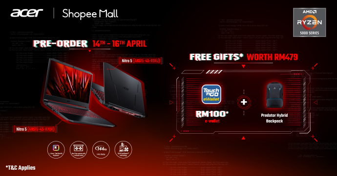 Acer Nitro 5 AMD Launched With Nvidia RTX 3000 Series From RM3,699; Nitro QG1 Monitor Debuts For RM749 12
