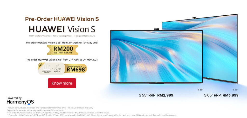 Huawei Vision S Series Smart Screen Launched In Malaysia; Priced From RM2,999 18