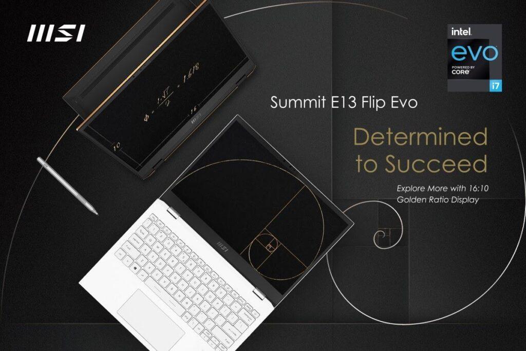 MSI Launches Summit E13 Flip Evo, Summit E16 Flip and MSI Pen 7