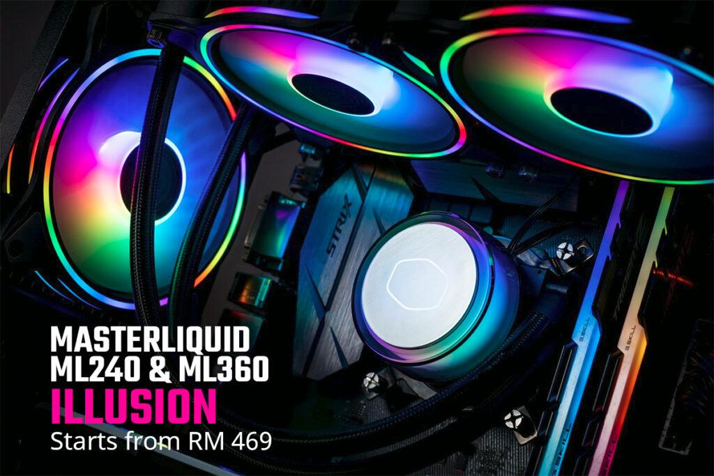 Cooler MAster MasterLiquid ML240 ML360 Illusion