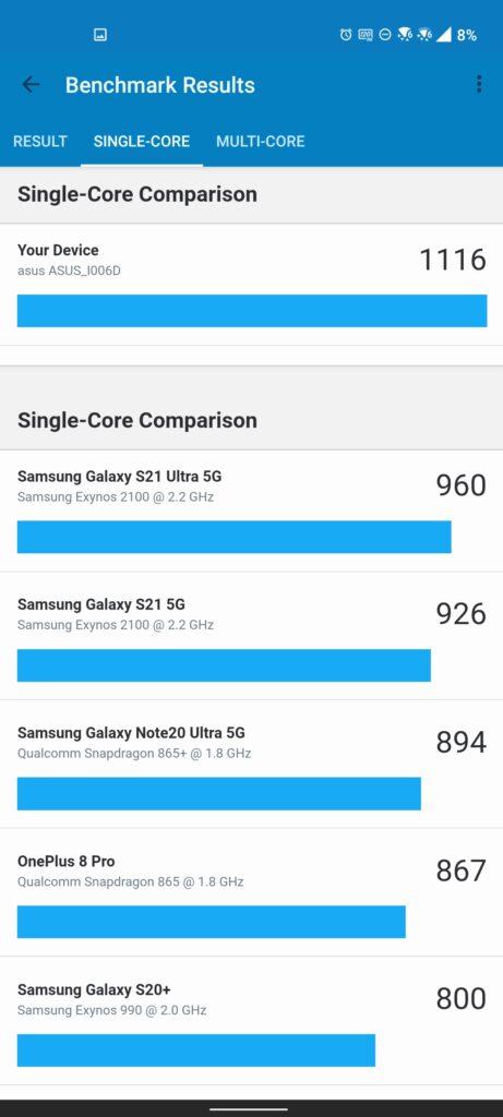 Asus zenfone 8 Review: Crouching Smartphone, Hidden Snapdragon 19