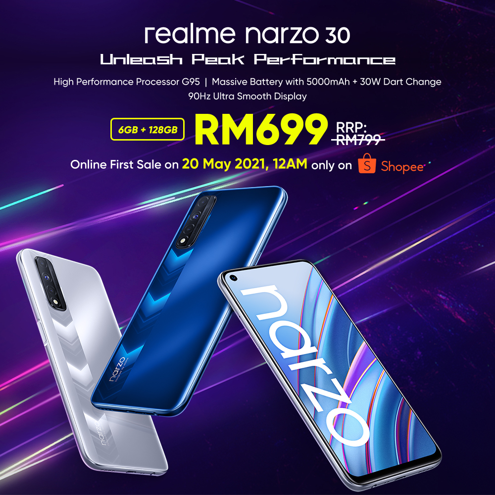 realme narzo 30 Officially Launched With Helio G95 Processor, 90Hz Refresh Rate For RM699 16