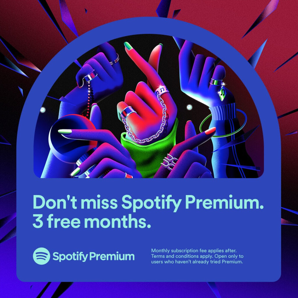 3 Months Spotify Premium For Free