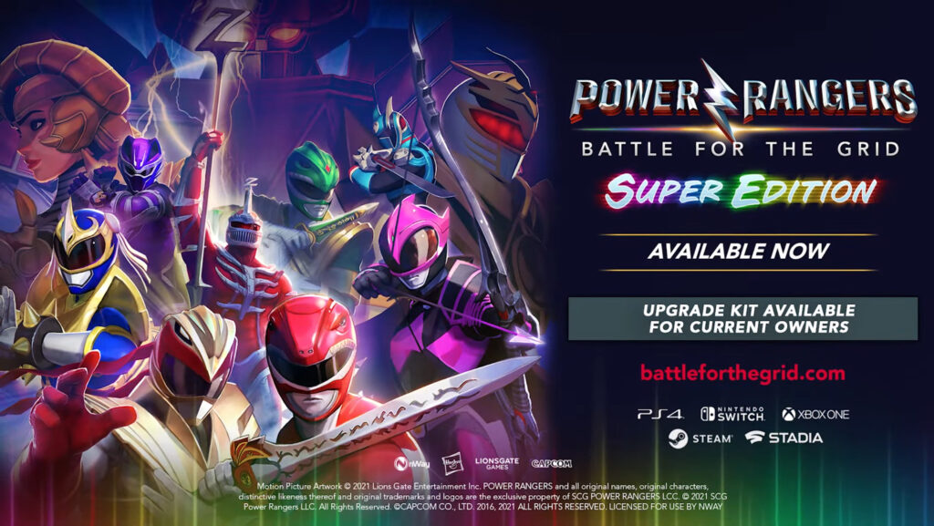 Power Rangers: Battle For The Grid - Super Edition Launched For $49.99; Street Fighter Pack also Unveiled 7