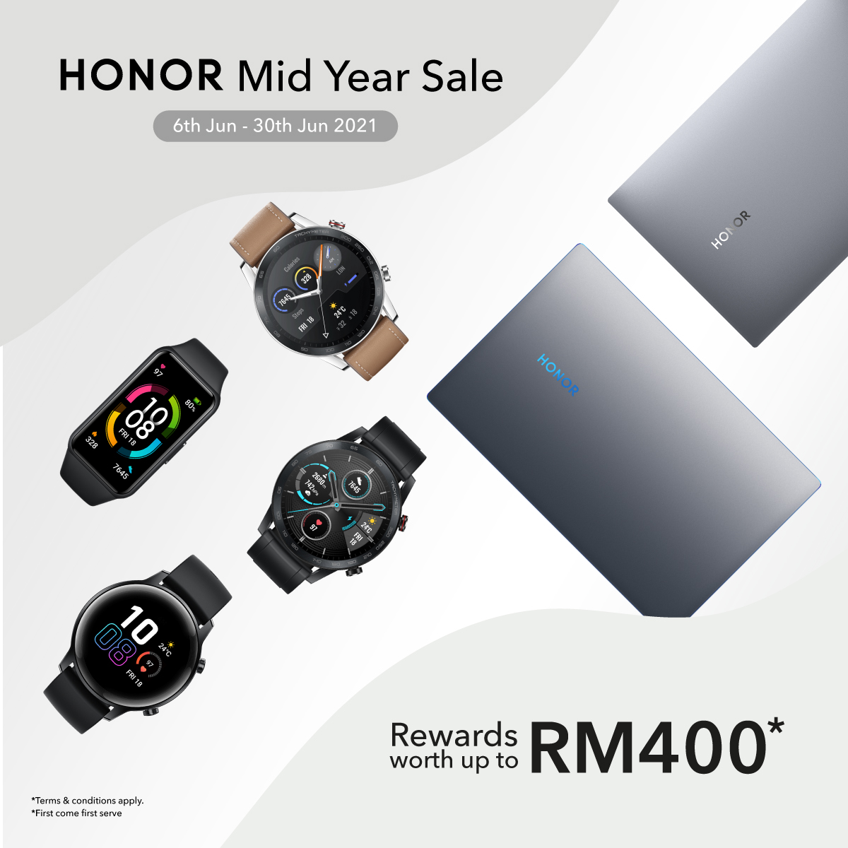 HONOR Malaysia's Mid Year Sale: Purchase products And Enjoy Rewards Worth Up To RM400 7