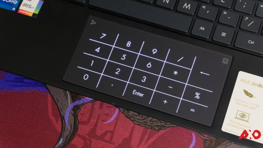 Asus ZenBook 13 OLED UX325 Numpad