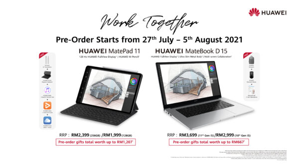 HUAWEI MatePad 11 and HUAWEI MateBook Variants available for Pre-orders Now: Enjoy Freebies worth up to RM1,207 4