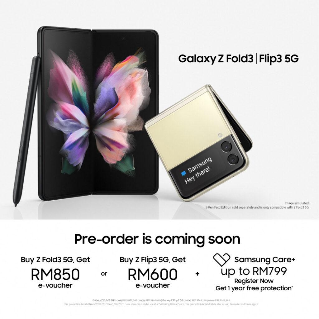 Samsung Galaxy Z Flip3 5G / Samsung Galaxy Z Fold3 5G