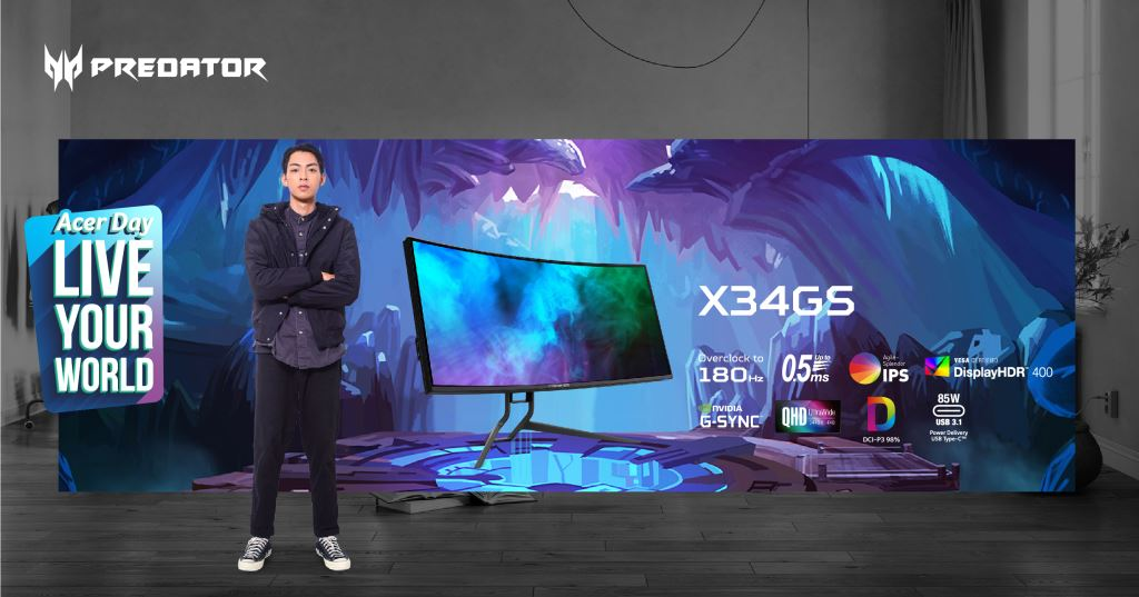 Game On And 'Live Your World' This Acer Day With New Predator Desktops And Nitro Gaming Monitors