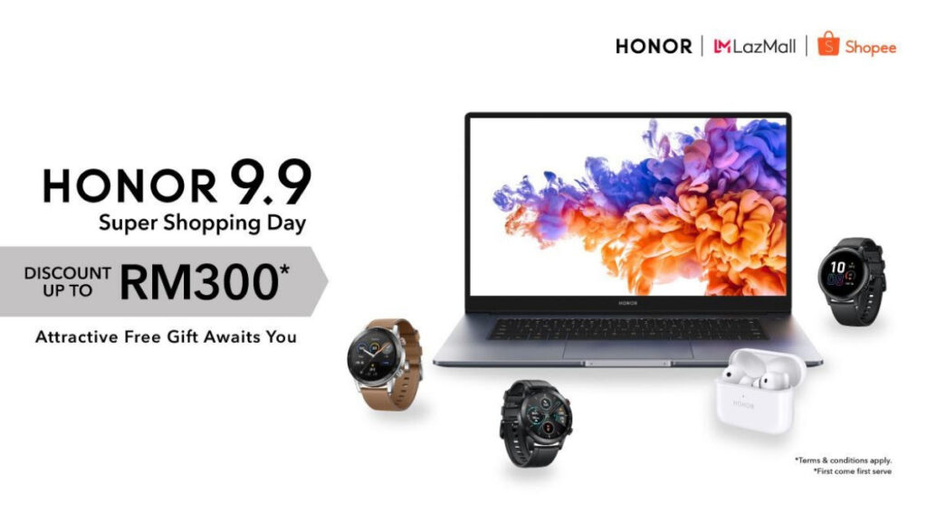 HONOR Malaysia Rewards Fans With Up To RM 300 Discounts And Free Gifts On 9.9 Super Shopping Day 14