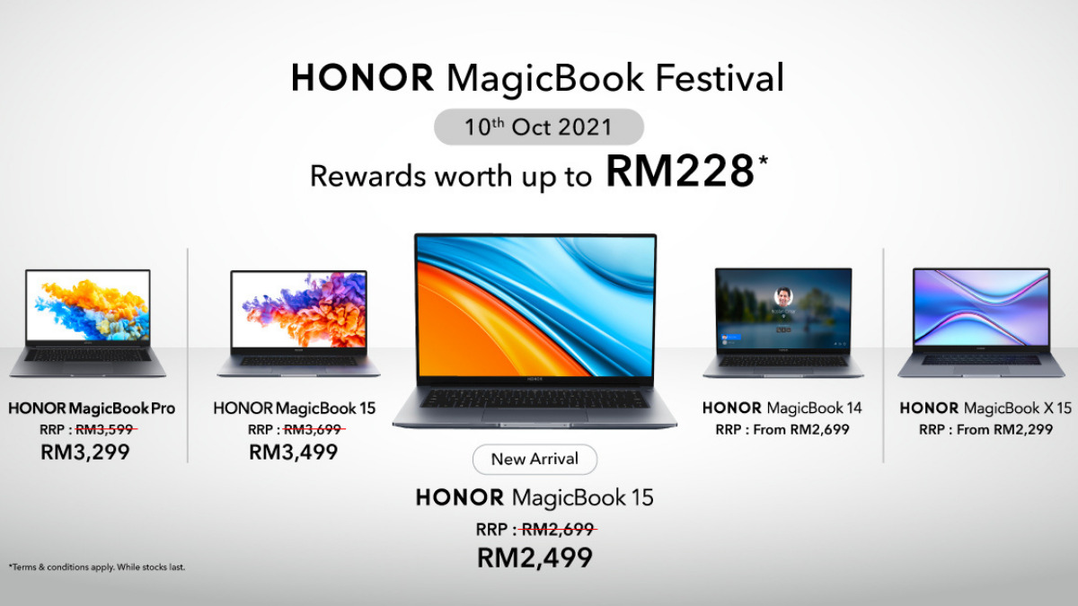 HONOR magicBook Festival Is Here on October 10th; Rewards Worth Up To RM228 22