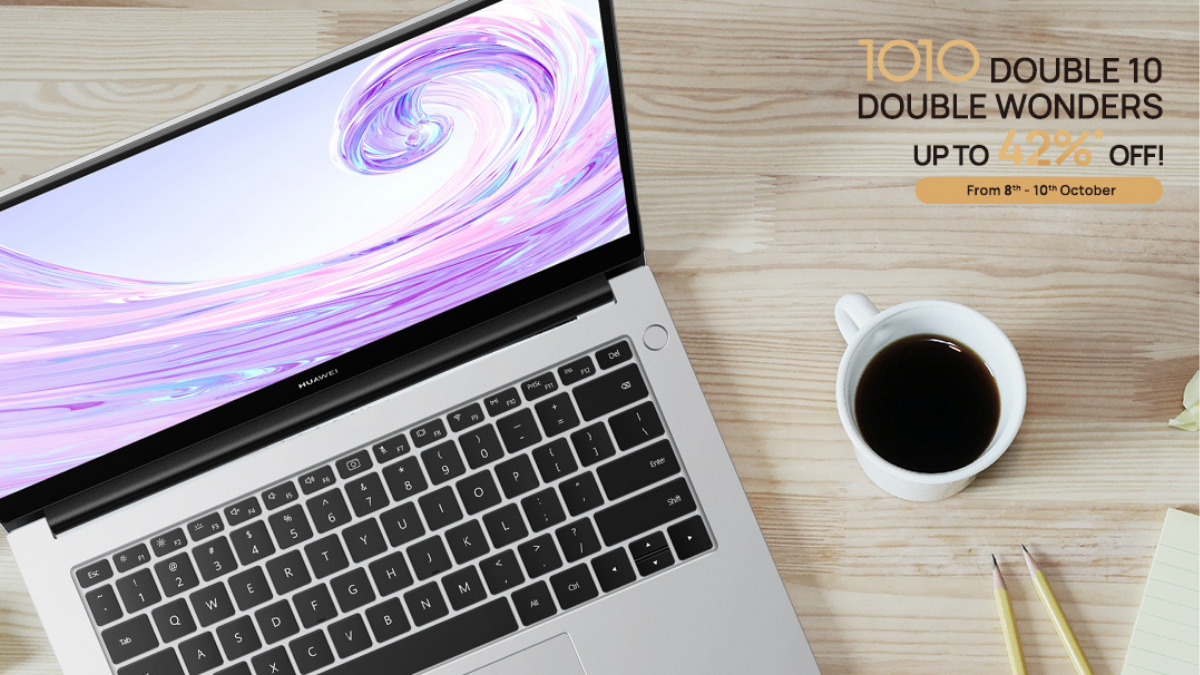 HUAWEI MateBook D14 is Available at RM2,299 during 10.10 18