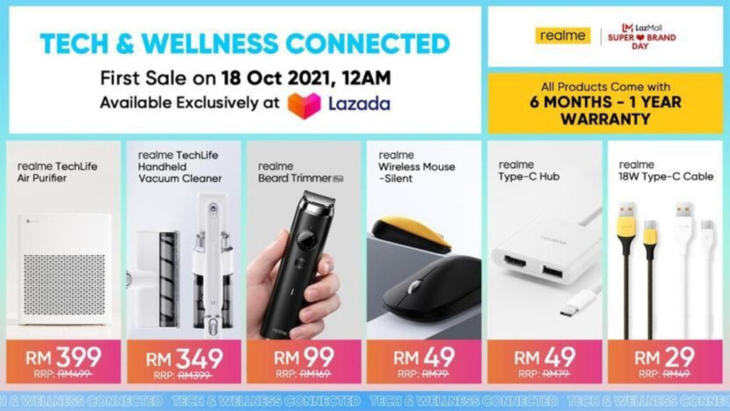 Stay Tech And Wellness Connected With Latest Members Of the Realme AIoT Family 14